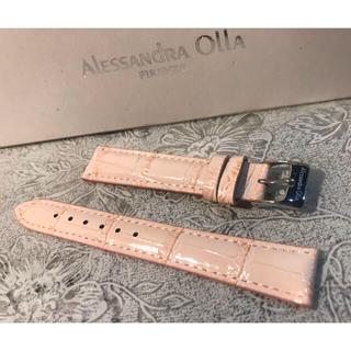 アレッサンドラオーラ(ALESSANdRA OLLA)の★ 新品 Alessandra Olla 本革 時計ベルト 16mm 桜色(腕時計)