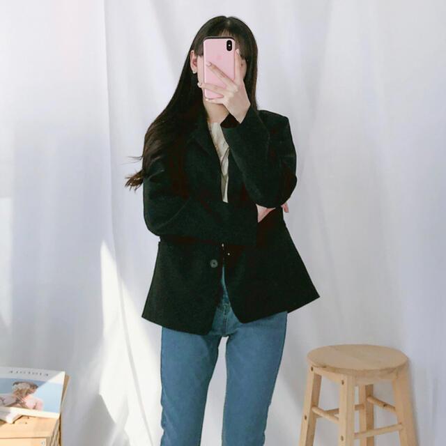 GOGOSING(ゴゴシング)の韓国ファッション ソリッドシングルジャケット レディースのジャケット/アウター(ノーカラージャケット)の商品写真