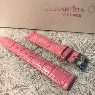 アレッサンドラオーラ(ALESSANdRA OLLA)の★ 新品 Alessandra Olla 本革 時計ベルト 14mm ピンク(腕時計)