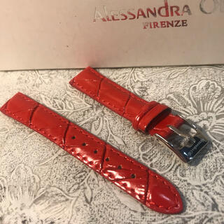 アレッサンドラオーラ(ALESSANdRA OLLA)の★ 新品 Alessandra Olla 本革 時計ベルト 14mm 赤(腕時計)