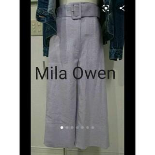 ミラオーウェン(Mila Owen)の新品未使用タグ付き☆ミラオーウェン ベルト付きステッチクロップドワイドパンツ(クロップドパンツ)