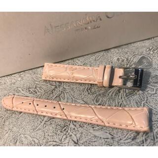 アレッサンドラオーラ(ALESSANdRA OLLA)の★ 新品 Alessandra Olla 本革 時計ベルト 14mm 桜色(腕時計)