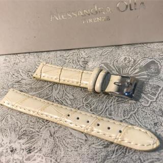 アレッサンドラオーラ(ALESSANdRA OLLA)の★ 新品 Alessandra Olla 本革 時計ベルト 14mm 白ベージュ(腕時計)