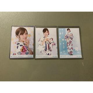ノギザカフォーティーシックス(乃木坂46)の乃木坂46 生写真 白石麻衣 浴衣(アイドルグッズ)