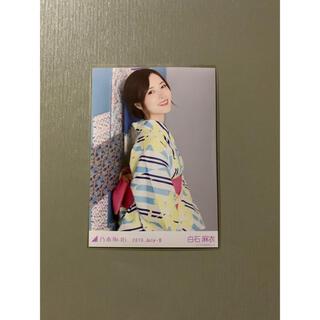 ノギザカフォーティーシックス(乃木坂46)の乃木坂46 生写真 白石麻衣 2019 浴衣 壁(アイドルグッズ)