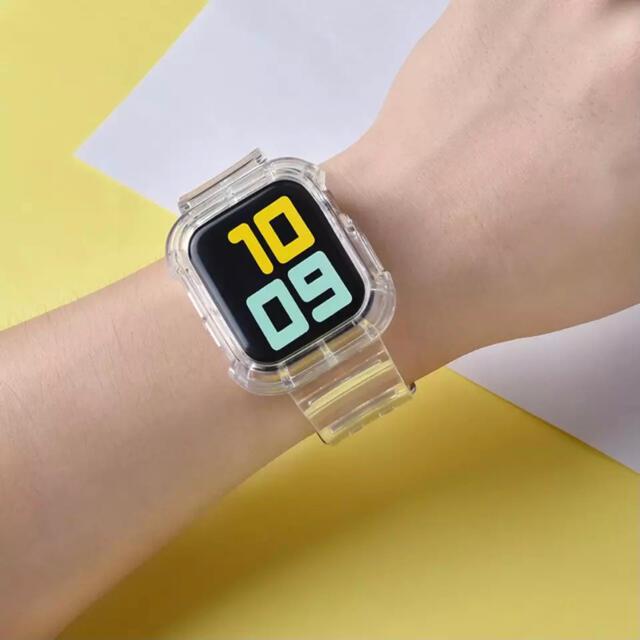 Apple Watch(アップルウォッチ)のAppleWatch アップルウォッチ バンド ベルト カバー ケース メンズの時計(ラバーベルト)の商品写真