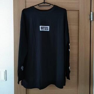 シマムラ(しまむら)の☆BT21袖ロゴロングTシャツ(Tシャツ/カットソー(七分/長袖))