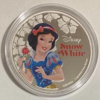 ディズニー(Disney)の白雪姫 1オンス銀貨プルーフ アルバム入り 2015年ニウエ(貨幣)
