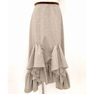 リルリリー(lilLilly)のilLilly (リルリリー) ドットチェックフリルスカート(ひざ丈スカート)