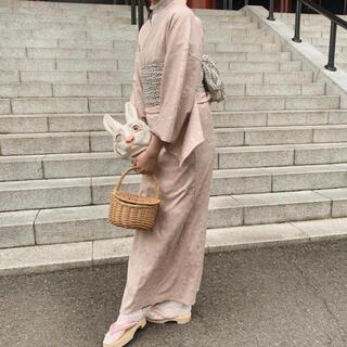 ワンアフターアナザーナイスクラップ(one after another NICE CLAUP)のvintage lace Yukata pink treatürself 浴衣(浴衣)