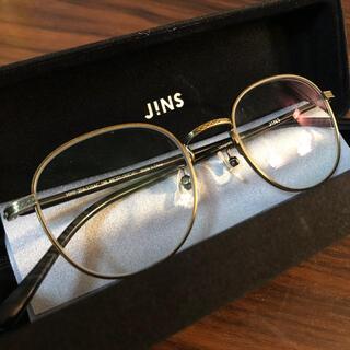 JINS - サングラス兼用!JINSの調光メガネ|ジンズのおしゃれ丸メガネ【ほぼ新品】