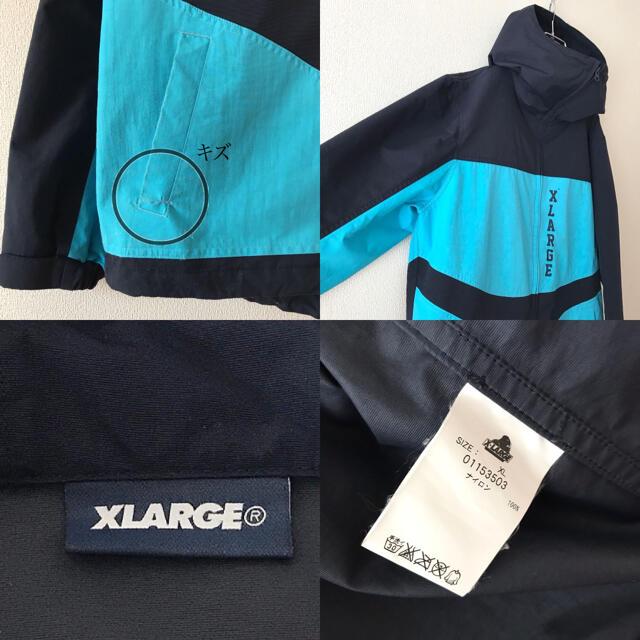 XLARGE(エクストララージ)のエクストララージ★ハイネック★フーディ★ナイロンジャケット★アノラックパーカー メンズのジャケット/アウター(ナイロンジャケット)の商品写真