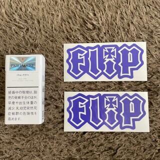 フリップ(Flip)のFlip 切り文字ステッカー スケボー スケーター 防水仕様 アースカラー(スケートボード)