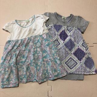 サンカンシオン(3can4on)のワンピース チュニック 100cm 半袖 2枚セット(Tシャツ/カットソー)