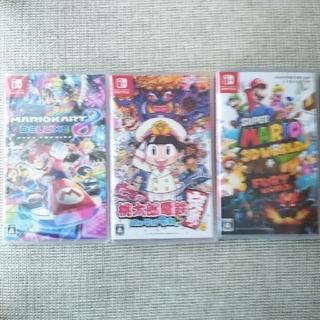 ニンテンドースイッチ(Nintendo Switch)のマリオカート8   桃太郎電鉄   スーパーマリオ3Dワールド(家庭用ゲームソフト)