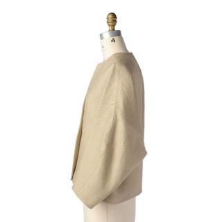 ドゥロワー(Drawer)のDrawer 田中彩子 さん着用ノーカラー ジャケット ベージュ コート(ノーカラージャケット)