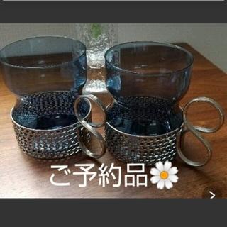 イッタラ(iittala)の専用 ツァイッカ ブルーグラス、パープルグラス 4点(グラス/カップ)