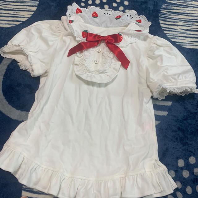 Angelic Pretty(アンジェリックプリティー)のアンジェリックプリティ いちご カットソー strawberry レディースのトップス(カットソー(半袖/袖なし))の商品写真