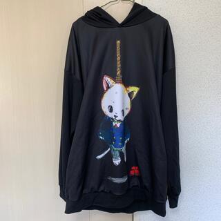 アンコロック(ankoROCK)のアンコロック ankoROCK 首吊りねこ カットソー ワンピース(Tシャツ/カットソー(七分/長袖))