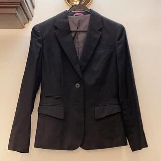 アオヤマ(青山)のMISS JUNKO スーツ ジャケット 黒 7号 就活(スーツ)