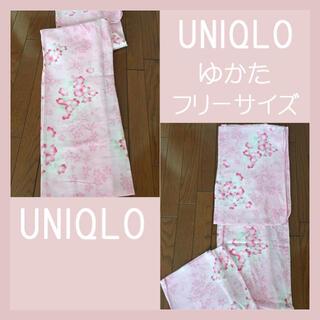 ユニクロ(UNIQLO)のユニクロ  UNIQLO ゆかた 浴衣♡フリーサイズ レディース(浴衣)