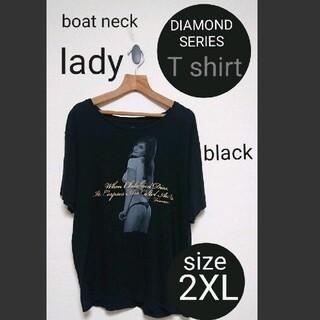 アヴァランチ(AVALANCHE)のDIAMOND SERIES lady Tシャツ 2XL blackダイヤモンド(Tシャツ/カットソー(半袖/袖なし))