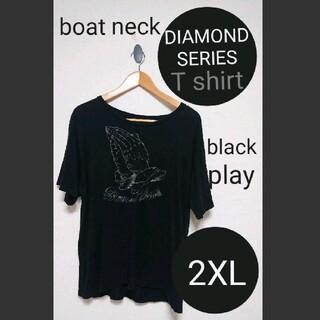 アヴァランチ(AVALANCHE)のDIAMOND SERIES play Tシャツ 2XL blackダイヤモンド(Tシャツ/カットソー(半袖/袖なし))