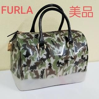 フルラ(Furla)のFURLA 美品 ハンドバッグ キャディバッグ 迷彩 ボストンバッグ フルラ(ハンドバッグ)