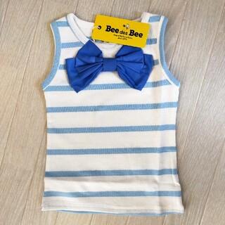 韓国子供服BEE 女の子 ノースリーブトップス 90(Tシャツ/カットソー)