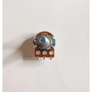 ALPHA 20KC ボリューム/可変抵抗 ダストカバー付き φ16 Cカーブ (エフェクター)
