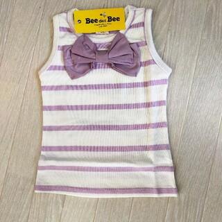 韓国子供服BEE 女の子 ノースリーブトップス 110(Tシャツ/カットソー)