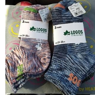 LOGOS - 靴下 LOGOS 24~26cm  6足セット