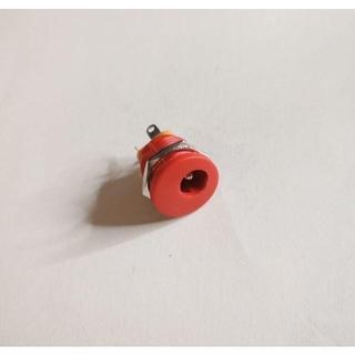 DC ジャック 赤 自作エフェクター φ2.1mm(エフェクター)