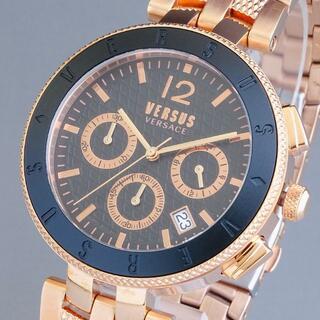 ヴェルサーチ(VERSACE)の【新品即納】ヴェルサス ヴェルサーチ メンズ腕時計 クロノグラフ ローズゴールド(腕時計(アナログ))