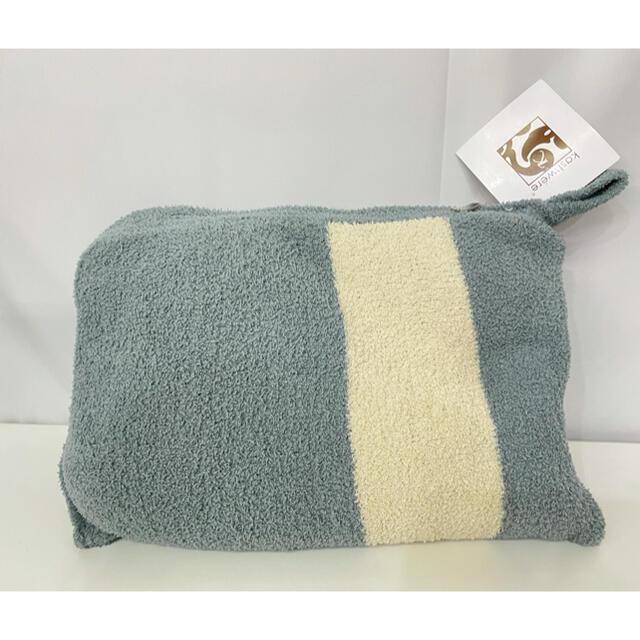 kashwere(カシウエア)のカシウェア Kashwere トラベルブランケット シルバーブルー インテリア/住まい/日用品の寝具(毛布)の商品写真