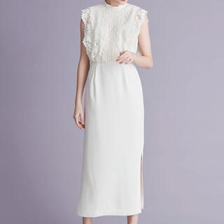 エメ(AIMER)のAIMER白ドレス(ロングドレス)