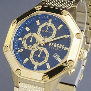 ヴェルサーチ(VERSACE)の【新品即納】ヴェルサス ヴェルサーチ メンズ腕時計 クロノグラフ 八角形 防水(腕時計(アナログ))