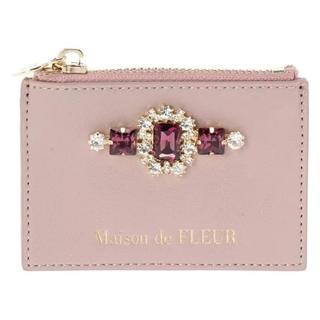 Maison de FLEUR - 新品 Maison de FLEUR ビジュー合皮カードケース ピンク