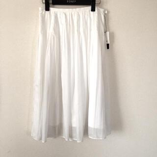 ロートレアモン(LAUTREAMONT)のロートレアモン 白 フレアスカート(ひざ丈スカート)