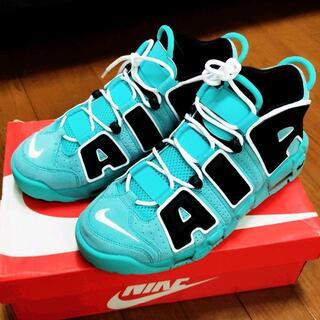 NIKE AIR MORE UPTEMPO 96 Tiffany Blue 30(スニーカー)