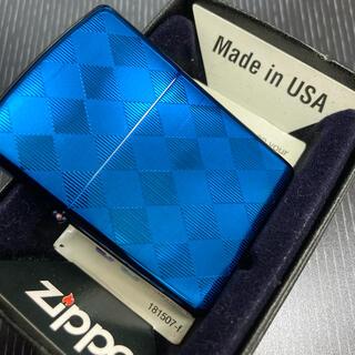 ジッポー(ZIPPO)のzippo チタンコーティング メタルブルー(タバコグッズ)