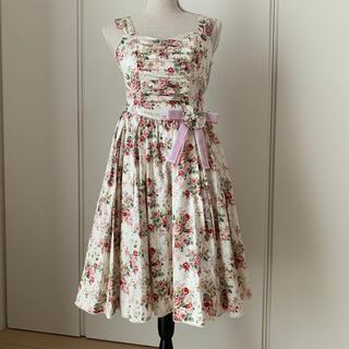 ヴィクトリアンメイデン(Victorian maiden)のVictorian maiden   ロココブーケコサージュ付ジャンパースカート(ひざ丈ワンピース)