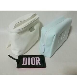 Christian Dior - 新品★クリスチャンディオール★ロゴDiorポーチ2個とミラー鏡のセット