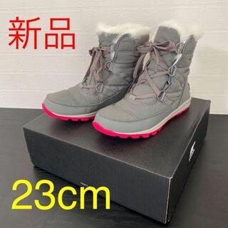 ソレル(SOREL)の新品☆ソレル 防水防寒ブーツ ウィットニーショートレース 23cm Quarry(ブーツ)