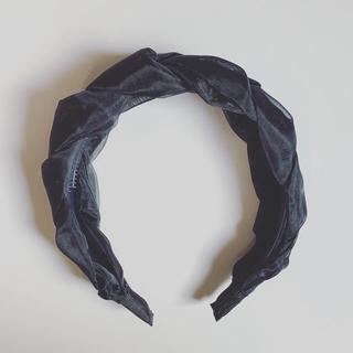 カスタネ(Kastane)の新品未使用◆ チュール カチューシャ ブラック(カチューシャ)