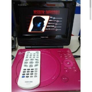 7V型REGZAポータブルDVDプレーヤー SD-P76SP ピンク