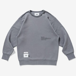 W)taps - Lサイズ INSECT / CREW NECK / COTTON GRAY