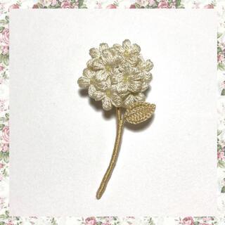 フラワーブローチ*一輪の花〜アイボリー(コサージュ/ブローチ)