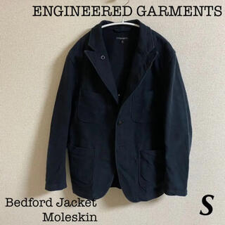 エンジニアードガーメンツ(Engineered Garments)のエンジニアードガーメンツ ベッドフォードジャケット モールスキン ブラック S(テーラードジャケット)