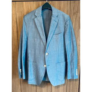 テーラードジャケット スーツ リネン  ジャケット メルローズ サックス